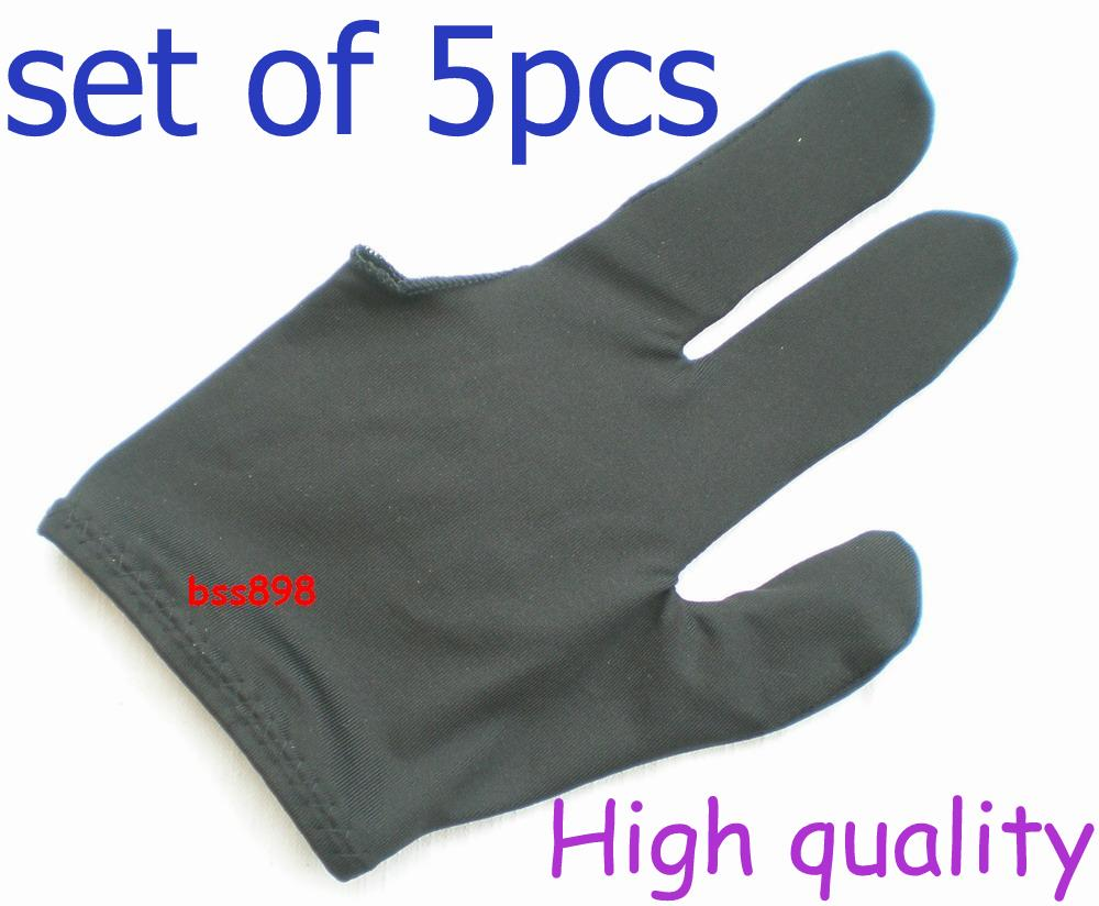 Free shipping 5pcs/LOT black Pool snooker Billiard table glove 3finger shooter все цены