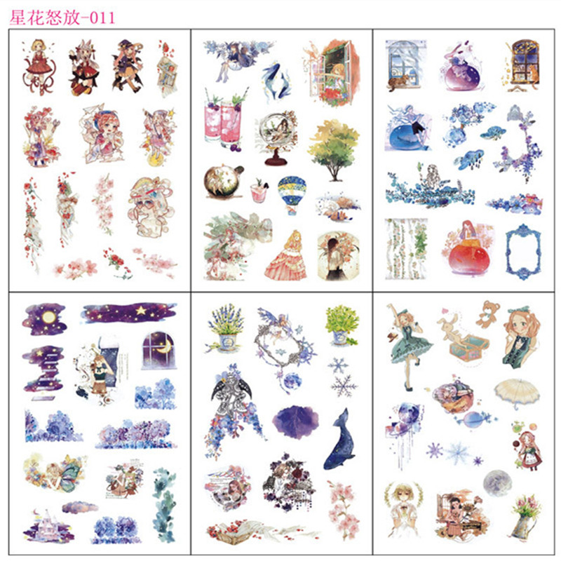 6 Sheests /pack Princess Girl Adhesive Stickers Diary Album Decor Stick Label Stationery Kids Gift6 Sheests /pack Princess Girl Adhesive Stickers Diary Album Decor Stick Label Stationery Kids Gift