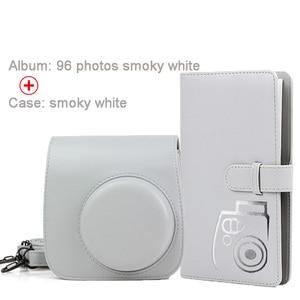 Image 3 - 保護ケース防水puレザーバッグショルダーストラップ + 96 ポケットフォトアルバムフジフイルムインスタックスミニ 9/8/7sカメラ