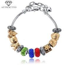 Attractto Новые разноцветные браслеты ручной работы с изображением