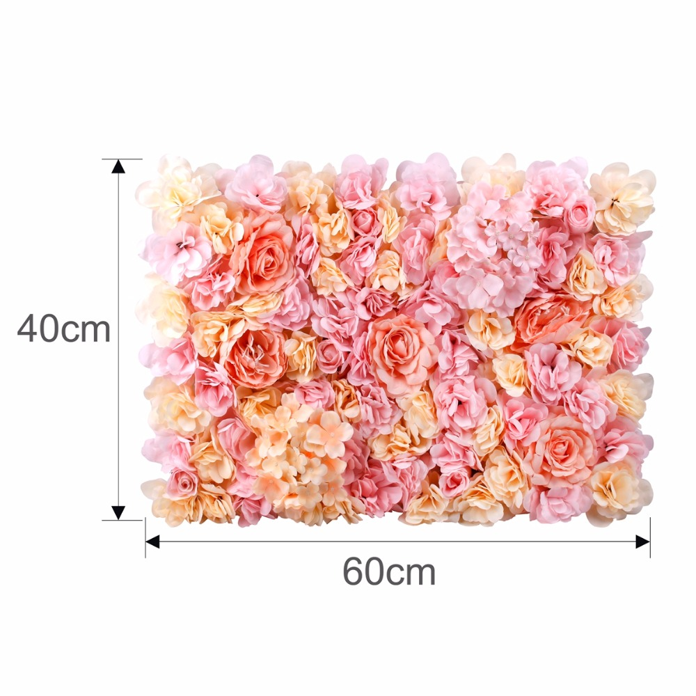 FRIGG 40x60cm Silk Rose Flower Backdrop Champagne Artificial Floral For Wedding Decoration Flower Wall Romantic Wedding Decor in Artificial Dried Flowers from Home Garden