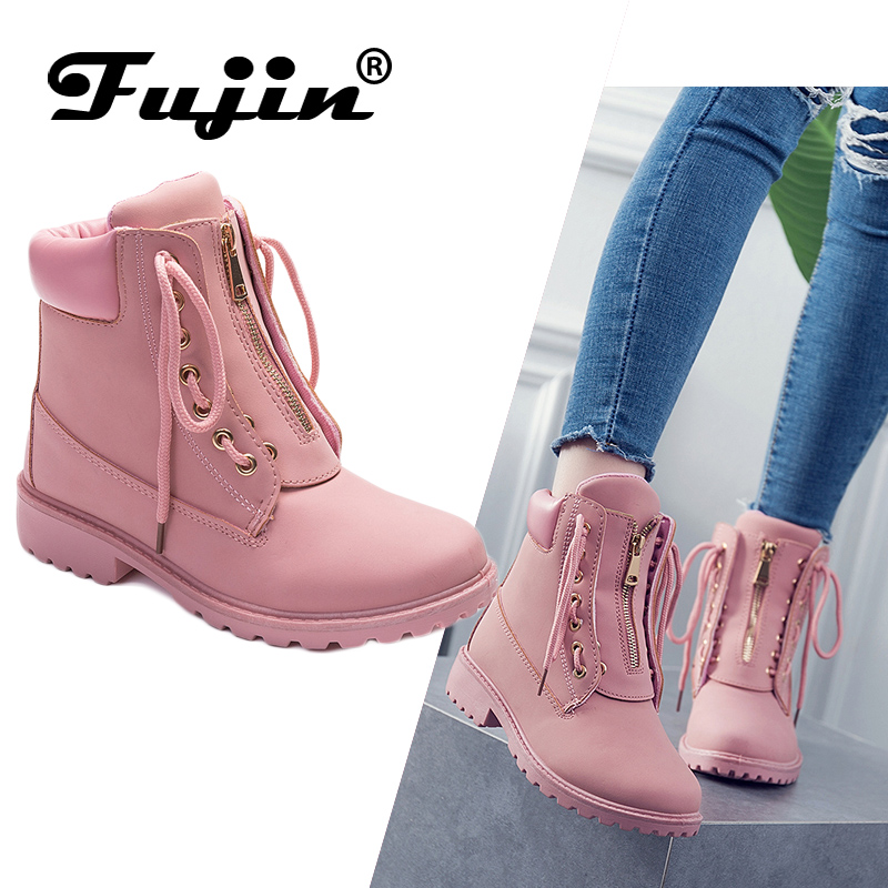 2019 new arrival women winter boots Booties boots Round toe shoes warm snow boots fashion platform