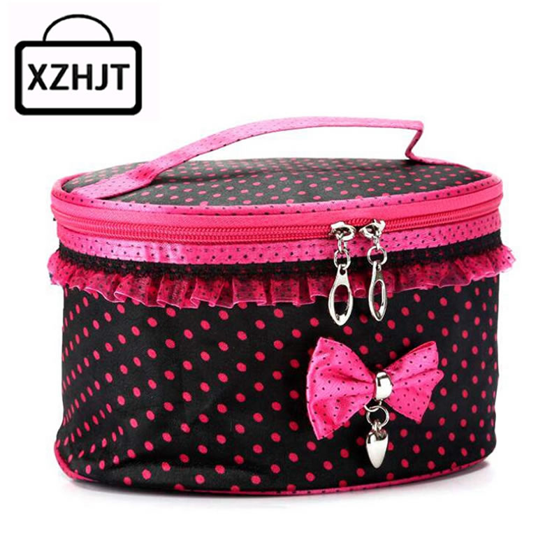 Barrelshaped Travel Cosmetic Bag Women Functional Makeup Case Zipper Make Up Bags Organizer Storage Pouch Toiletry Kit Wash Bags