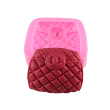 LISM New Arrival 1 PCS Bag Woman Fashion Silicone Mold Cake Fondant Tool Lace Soap DIY Kitchen Bake Ware Decorating Tools