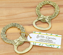 Factory Fast Delivery High Quality Party Favors Gold Laurel Bottle Opener Wedding Favor Beers Openers Wholesale