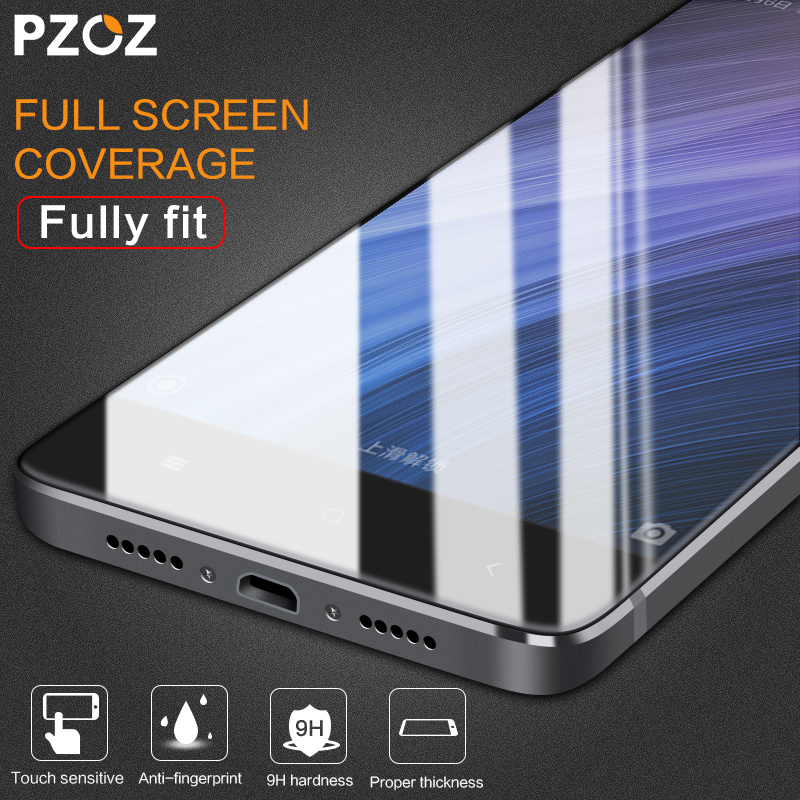 PZOZ Tempered Glass For Xiaomi RedMi 4 Full Screen Protector 9H Original Xiaomi RedMi 4 Pro Film Xiomi RedMi 4X glass cover 2.5D