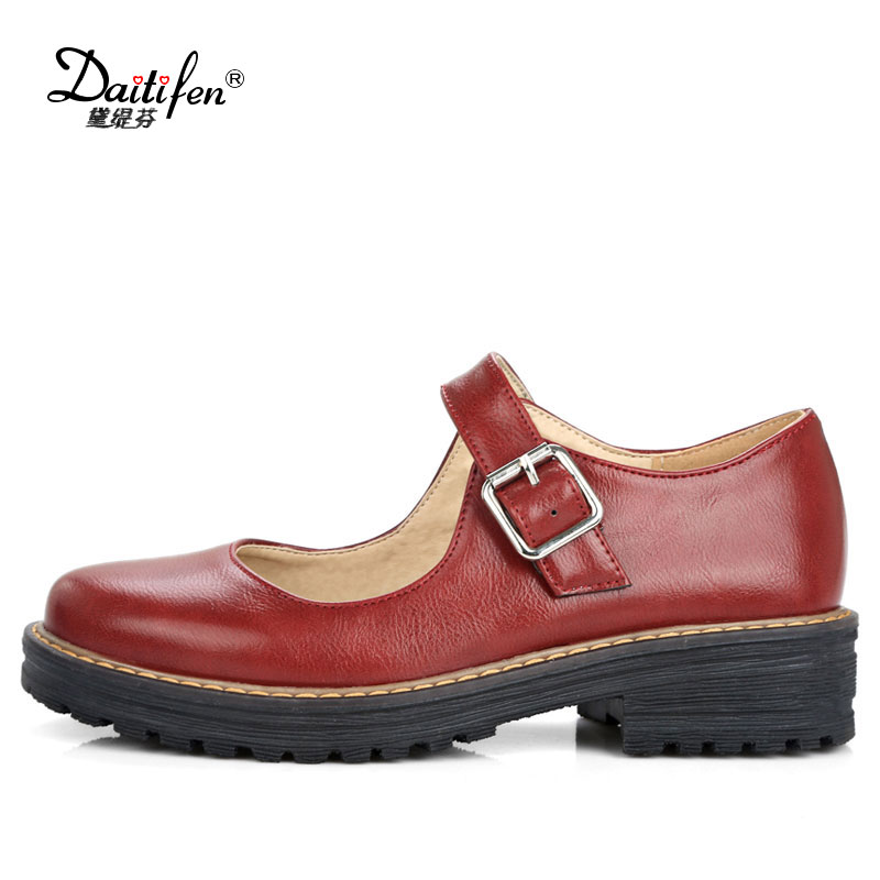 Daitifent Woman Thick High Heels Shoes Women Solid Color round Toe Buckle Strap Heels Pumps Ladies Daily Footwear Size 34-43 kemekiss size 33 42 women s high heel wedge shoes women cross strap platform pumps round toe casual mixed color ladies footwear