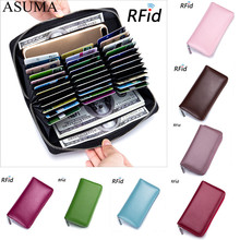 Leather Organizer Business RFID Blocking Credit Card Holder Men Anti Theft Travel Passport Long Wallet Women ID Holder 36 Cards new pu leather passport cover holder women men travel credit card holder travel id card document passport holder