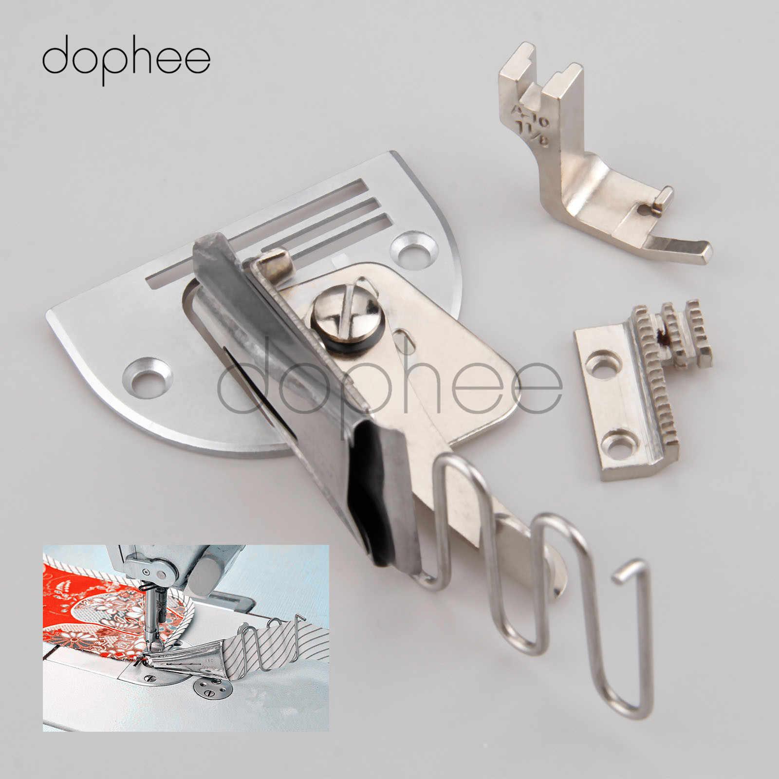 Ailyoo Reliure /à Angle Double Pliage Machine /à Coudre Surjet de Reliure Ruban de Pliage de Bord Formateur de Ruban de Biais pour la Reliure de Reliure /à la Machine du Bord de la Courbe