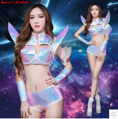 Bodysuit Women Dj Atmosphere Female Singers Sexy stage costumes Nightclubs DS Performance Clothing Laser Bar Sexy Dance Clothing ...