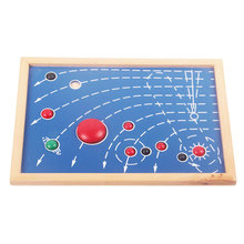 Wooden Montessori Toys Baby Puzzle Map Of 8 Planet Educational Early Learning Toys For Kids Birthday Gift E2364Z
