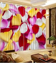 custom 3d curtains Rose petal curtains for living room bedroom blackout curtains 3d stereoscopic luxury curtains(China)