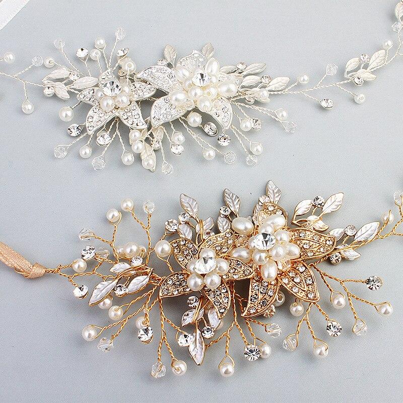 Gold Silber Braut Tiara Kopfschmuck Braut Haarschmuck Stirnband