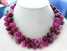 "Pretty 10mm Natural Rose Onyx Beads Necklace 48""(China)"