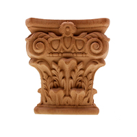 DIY Vintage European Unpainted Wood Carved Decal Corner Onlay Applique Frame for Home Furniture Cabinet Door Fireplace Decor