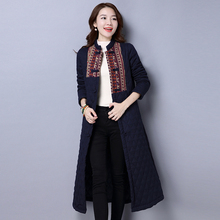 Winter Special offer Large size China folk style Robe dress Cotton padded retro cardigan long sleeved Chinese-style padded coat цены онлайн