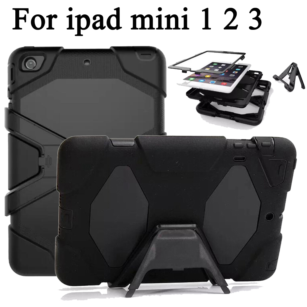 Full protection Case For apple ipad Mini 2 Mini 3 Kids Safe Shockproof Heavy Duty TPU silicon Hard Cover Stand For iPad Mini 1 for apple ipad mini 1 2 3 case tpu soft back cover case for ipad mini 3 2 1 ultra thin transparent silicon case