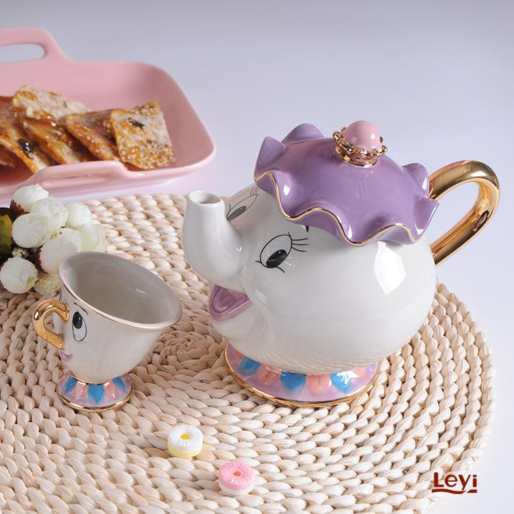 New Cartoon Beauty And The Beast Teapot Mug Mrs Potts Chip Tea Pot Cup One Set Lovely Christmas Gift Fast Post 3