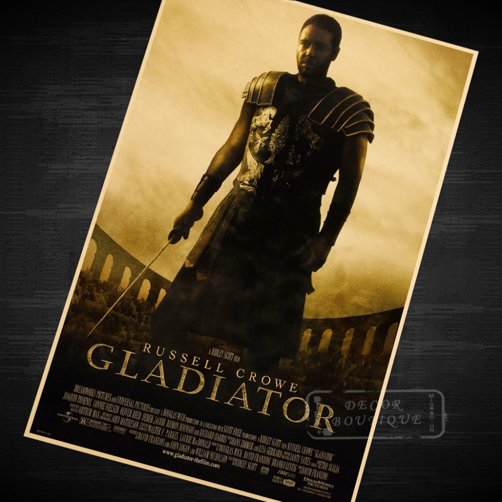 Gladiator Movie Film Classic Vintage Poster Decorative DIY Wall ...