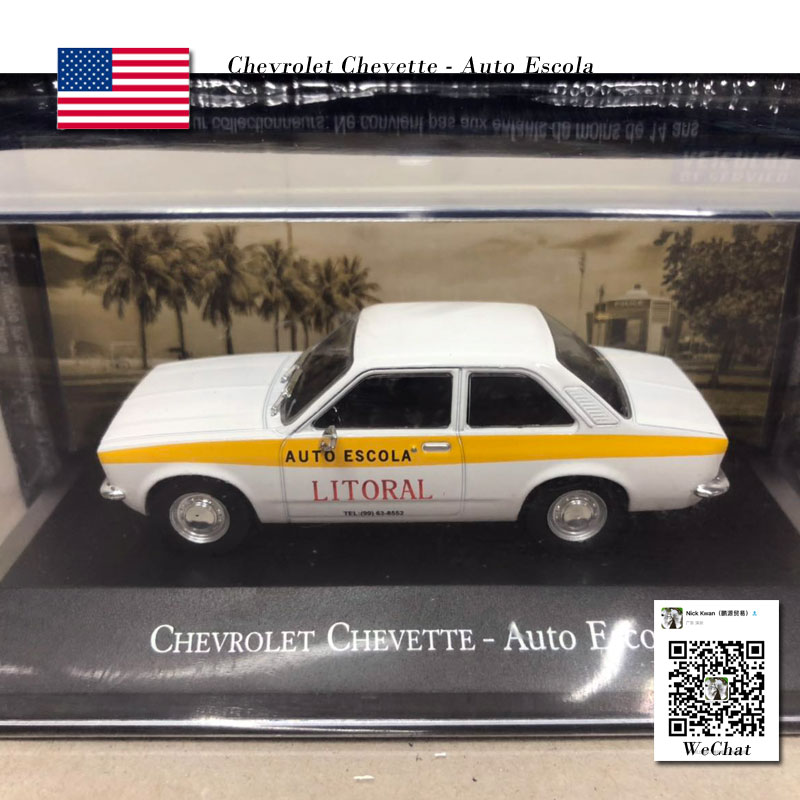 IXO 1/43 Scale <font><b>Vintage</b></font> Car CHEVROLET Chevette AUTO ESCOLA <font><b>Diecast</b></font> Metal Car Model Toy For Collection,Gift,Kids image