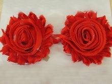 5Y41115 Shabby Flowers For Baby Hair Accessories Frayed Fabric Flowers For Headbands,DIY handmade materials