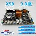 100% nova x58 motherboard lga 1366 ddr3 ecc reg placas originais usb3.0 sataii 16 gb para intel x58 motherboard