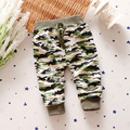 Baby Boys Girls Harem Pants Camouflage Fashion Harem Pants For Children Cotton Clothes Trousers Elastic Waist Army Green Pants