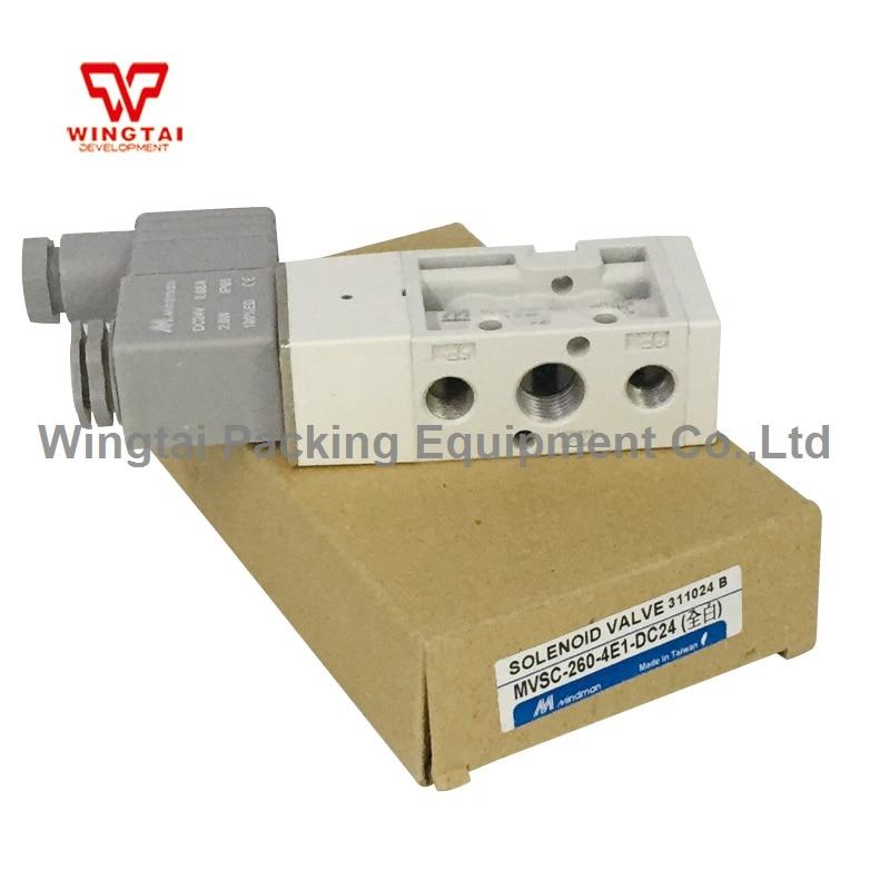 Taiwan Mindman Pneumatic Solenoid Valve MVSC-260-4E1 electromagnetic valve taiwan original mindman gold solenoid valve mvsc 220m 4e1 dc24v hydraulic solenoid valve
