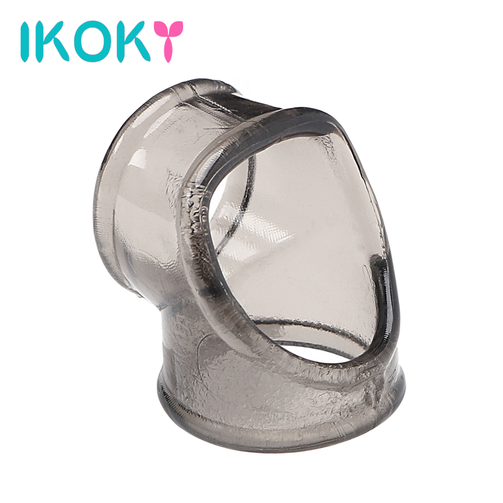 IKOKY Penis Sleeve Scrotal Binding Ring Sex Toys for Men Male Delay Ejaculation Penis Ring Cock Ring Chastity Cage Adult Product soft male dildo scrotal bound penis rings scrotum binding chastity device lock sperm cock ring sex toy for men delay ejaculation