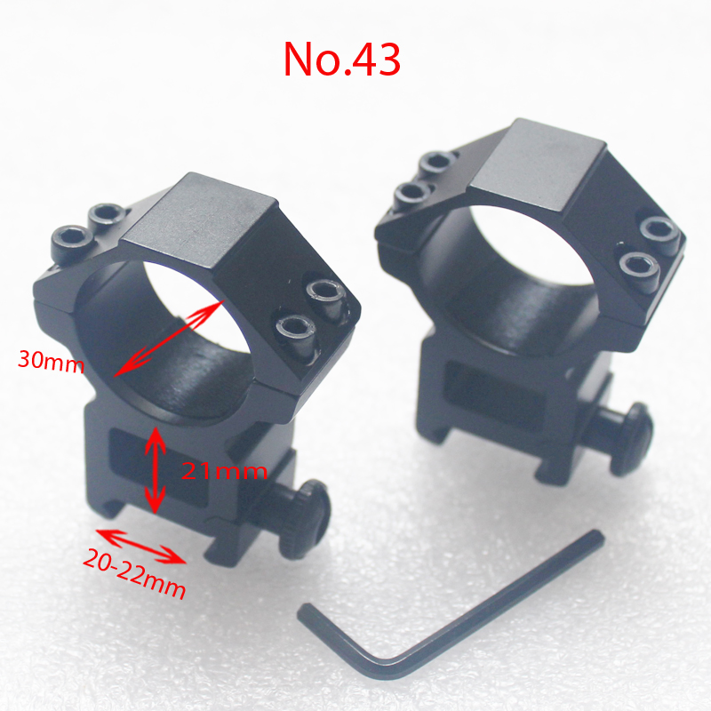 Hot 1 pair 11mm 20mm Tactical Outdoor Hunting Accessories Rifle Scope Mounts 25 4mm 30mm Ring Weaver Rail Mount in Scope Mounts Accessories from Sports Entertainment