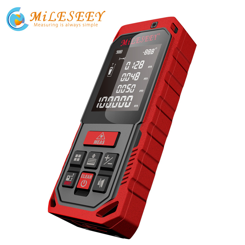 Mileseey Laser Rangefinder Handheld Digital Laser Distance Meter Rangefinder Measurer Tape Diastimeter