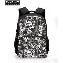 3D cute Heart shaped print women backpack heart school backpack for teenage girls large capacity student
