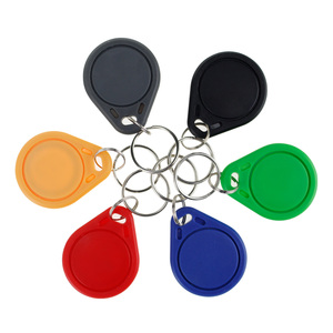Image 2 - 100 stücke RFID keyfobs 13,56 mhz schlüsselanhänger NFC tags ISO14443A MF Klassische® 1 karat nfc access control token smart keycard sechs farben