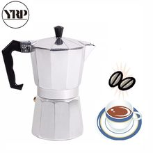 YRP – cafetière italienne Moka Latte, expresso, percolateur, 1 tasse/3 tasses/6 tasses/9 tasses/12 tasses, sur la cuisinière