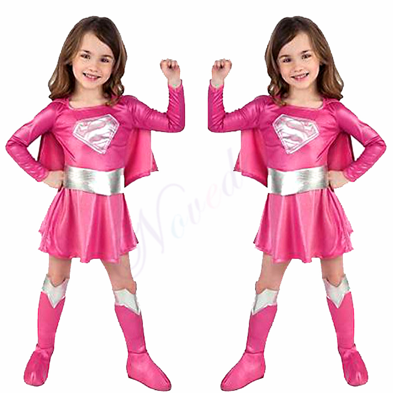 Fancy Girls Superman Dress Birthday Party Supergirl Super Hero Cosplay Costume Christmas Halloween Costume For Kids Child    - AliExpress