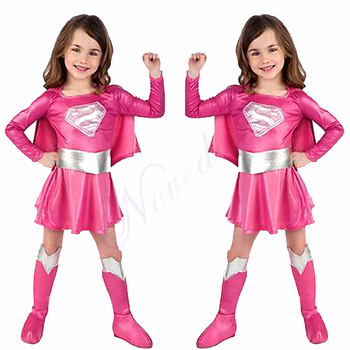 Fancy Girls Superman Dress Birthday Party Supergirl Super Hero Cosplay Costume Christmas Halloween Costume For Kids Child kids birthday halloween party gift new child boy deluxe star wars the force awakens storm troopers cosplay fancy dress kids hall