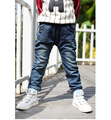 Children's clothing plus velvet thickening baby trousers boys pants zipper pocket Children jeans