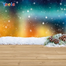 Yeele Christmas Photo Wood Bokeh Light Family Party Photography Backdrops Personalized Photographic Backgrounds For Photo Studio недорого