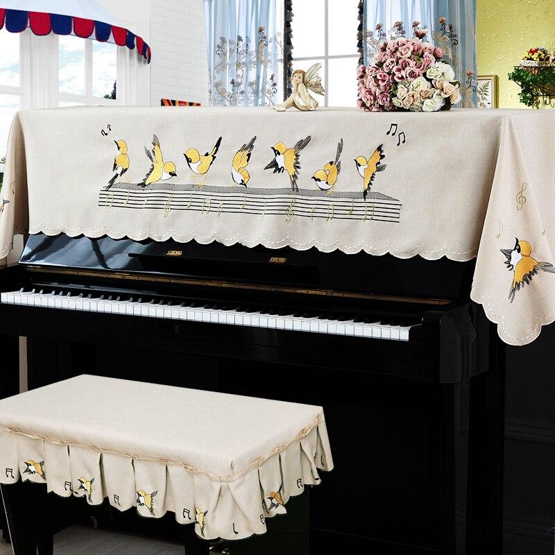 RUBIHOME 1 ensemble dessin animé oiseaux pratique complet Piano couverture décoration broderie