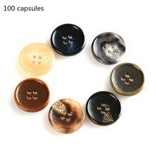New 100pcs urea buckle Fine side round four-eye pattern high-grade suit Clothing urea buckle 15mm20mm все цены