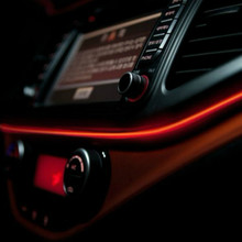 JURUS universal new arrival 3 M 10 cores el luz de néon flexível decoração tira com carro mais leve do cigarro do carro styling