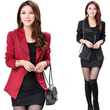 Moda hot mulheres zipper mulheres marca blazers blazers jaqueta de manga comprida terno do lazer feminino