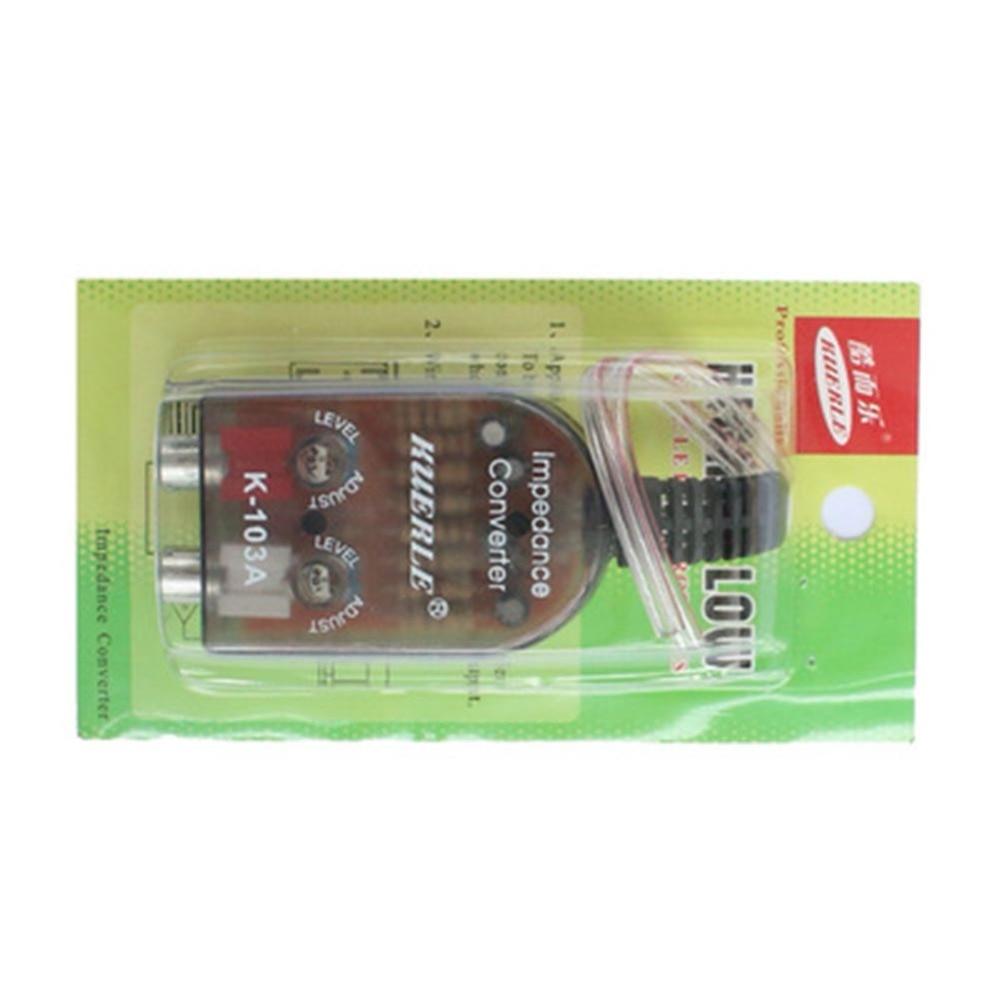 Автомобильный стереоконвертер от высокого уровня до низкого импеданса, аудиопреобразователь с высоким VF до нижнего выходного адаптера дин...