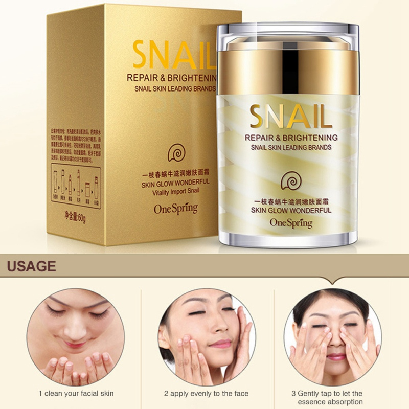 60G Snail Cream Facial Moisturizer Face Day Cream Whitening Ageless Anti Wrinkles Lifting Facial Firming Skin Care