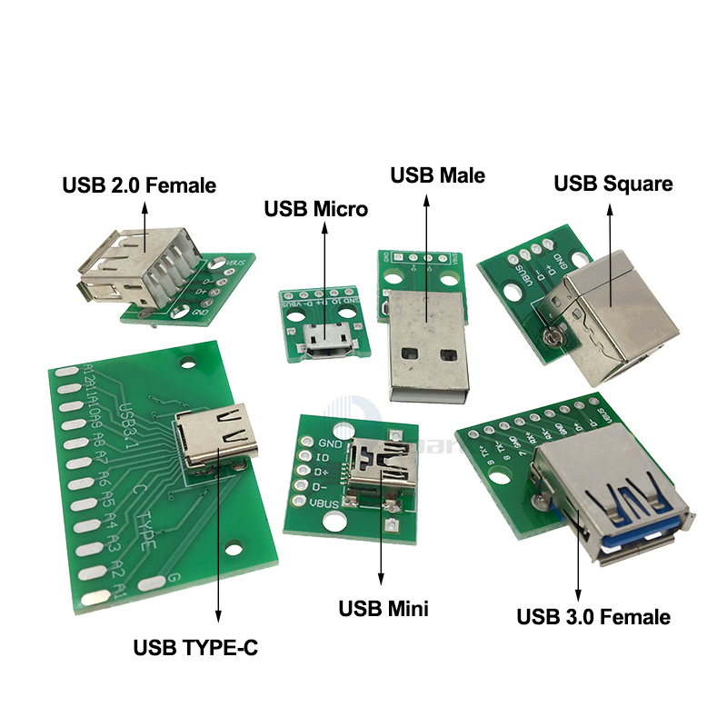 10Pcs Mini MICRO USB to DIP Adapter 5Pin Female Connector PCB Converter Board/_CS
