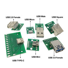 Micro MINI USB 2.0 3.0 To DIP Adapter 5pin Female Connector B Type PCB Converter Breadboard USB-01 Switch Board SMT Mother Seat(China)