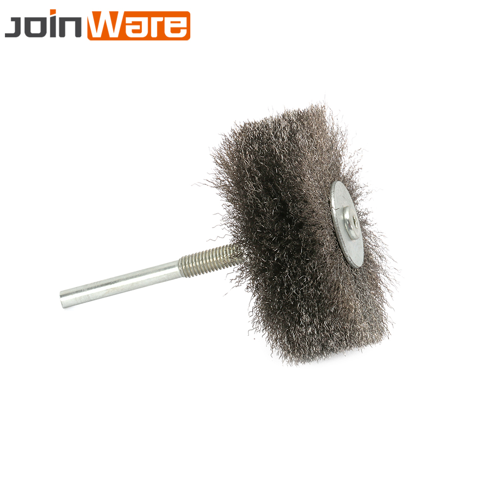 цена на 2Pcs Stainless Steel Wire Abrasive Brush Wheel Polishing Grinding Brush For Metal 6MM Shank Drill Rotary Tool High Quality