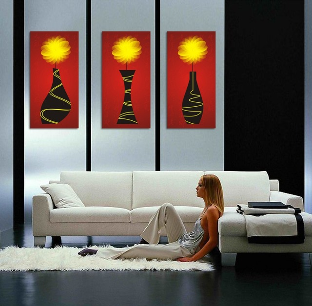 2016 Limited Rushed Quadros De Parede Sala Estar 3 Piece Canvas Wall Art  Abstract Painting And Part 52