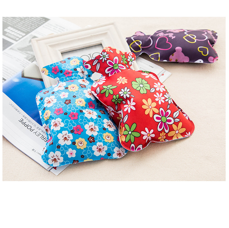 Warm water bag hot water bottle warm hand Po warm Bao water filling small mini cute thick pvc explosion - proof 2016 latest explosion proof electric hot water bottle charging warm bao bao shuang electric double plush6002