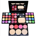 2016 Hot Professional makeup palette 24 color eye shadow 8 color lip gloss 4 color blush and 3 Powder cake free shipping JF-S482